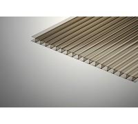 Сотовый поликарбонат Колибри TSK 16*2100*6000 бронзовый 42%