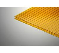 Сотовый поликарбонат Колибри 6*2100*6000 оранжевый 55%