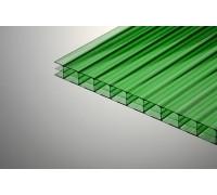 Сотовый поликарбонат Колибри 8*2100*6000  зеленый 30%