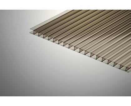 Сотовый поликарбонат Колибри 6*2100*6000 бронзовый 42%