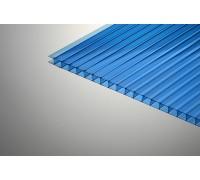 Сотовый поликарбонат  Колибри 6*2100*6000 синий 30%