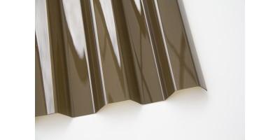 Профилированный монолитный поликарбонат0.8х1260х6000 POLIC GRECA бронзовый