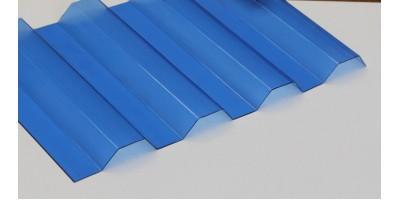 Профилированный монолитный поликарбонат 0.8х1260х6000 POLIC GRECA синий