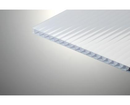 Сотовый поликарбонат  Колибри 8*2100*6000 белый 25%