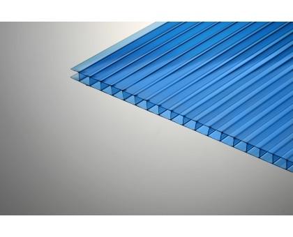 Сотовый поликарбонат  Колибри 8*2100*6000 синий 30%