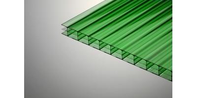 Сотовый поликарбонат Колибри 10*2100*6000 зелёный 30%