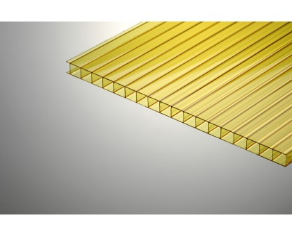 Сотовый поликарбонат  Колибри 8*2100*6000 желтый 70%