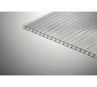 Сотовый поликарбонат  КИВИ  6*2100*12000 прозрачный вес  1листа-20,45кг